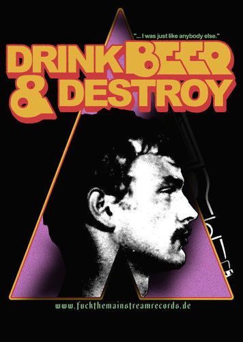 "DRINK BEER & DESTROY - ""clockwork dahmer"" POSTER A3"