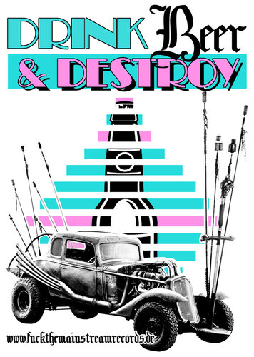 "DRINK BEER & DESTROY - ""miami"" POSTER A3"